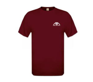 MERCH ATA - T-Shirt bordeaux (voor)